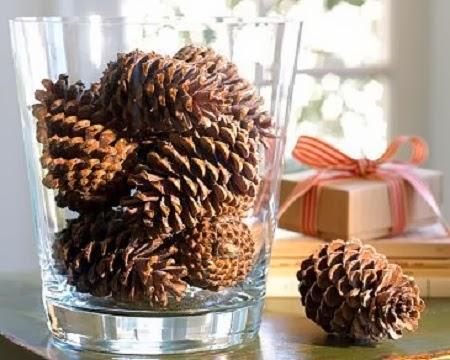 10 ideas de decoracion de navidad con pi as - Pinas de pino para decorar ...