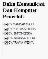 Buku Komunikasi dan Komputer Penerbit Mandar Maju, Pustaka, Infomedika, Nuansa, Widya Online Murah