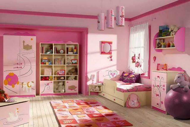 Furniture kamar tidur anak perempuan