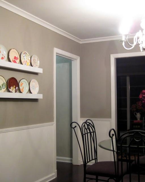 plates on a shelf