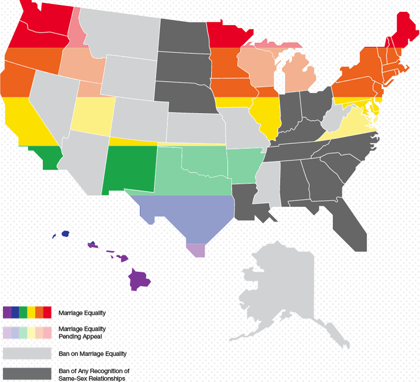 Marriage Equality Map October 2017