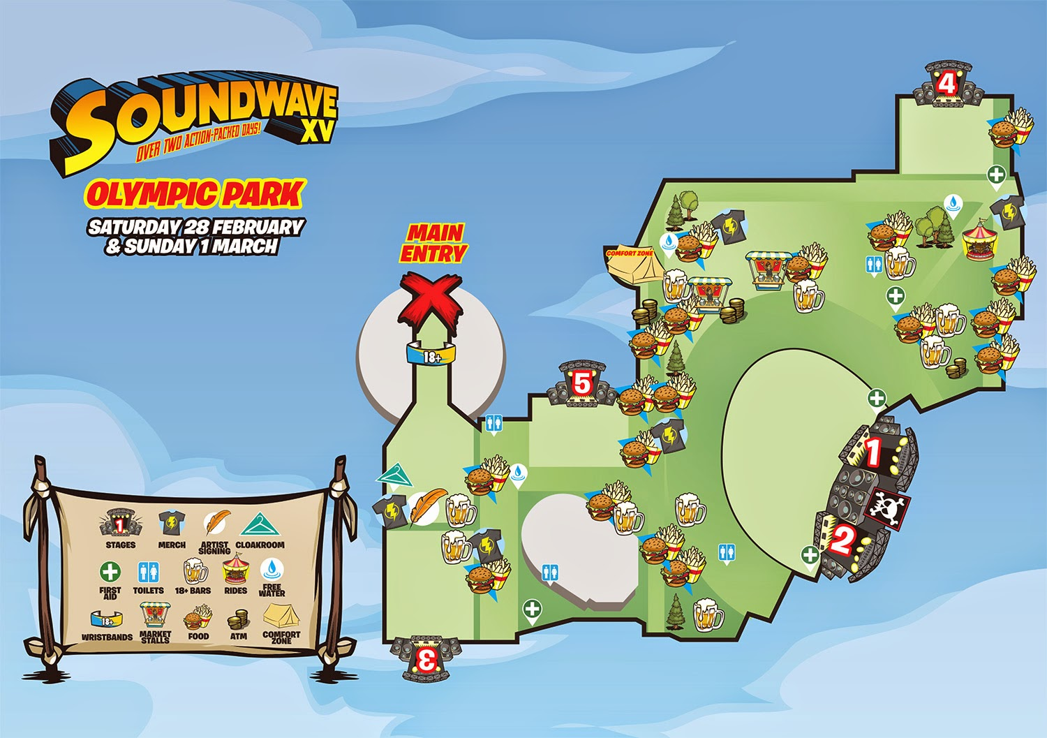 soundwave sydney map 2015, sw sydney map 2015