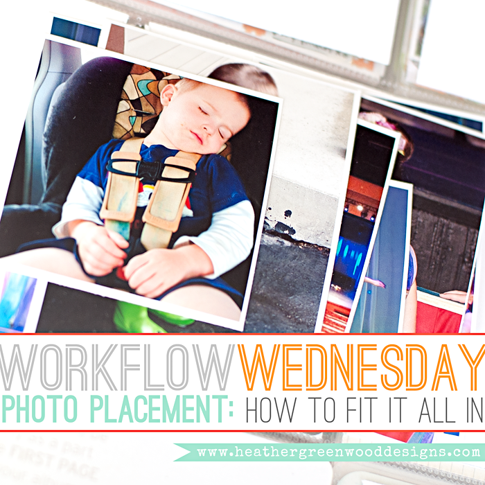 Heather Greenwood | How to fit all your photos from one week onto one Design A Project Life page protector