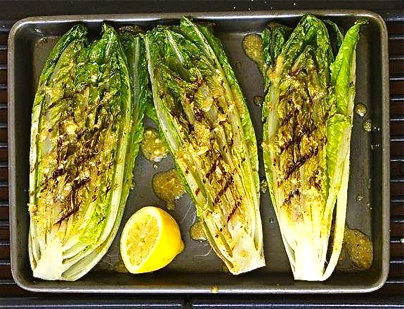 grogs4blogs: Grilled Romaine Hearts with Caesar Vinaigrette