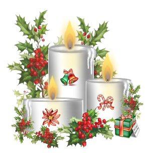 Imagens para decoupage de natal - velas natalinas