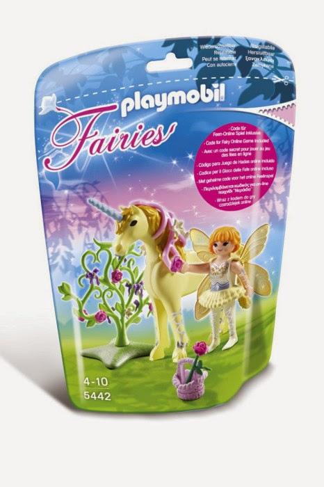 TOYS - JUGUETES - PLAYMOBIL Fairies  5442 Hada Flor con Unicornio Rayo de Sol Producto Oficial | A partir de 4 años