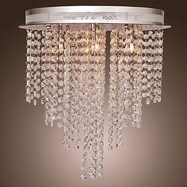 Lámpara Chandelier de Cristal con 6 Bombillas