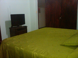 main room in furnished flat with king size bed in Bogota