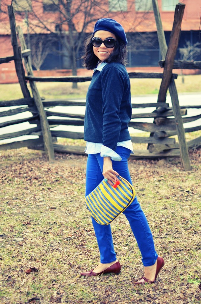 COBALT BLUE PANTS OUTFIT LOOK