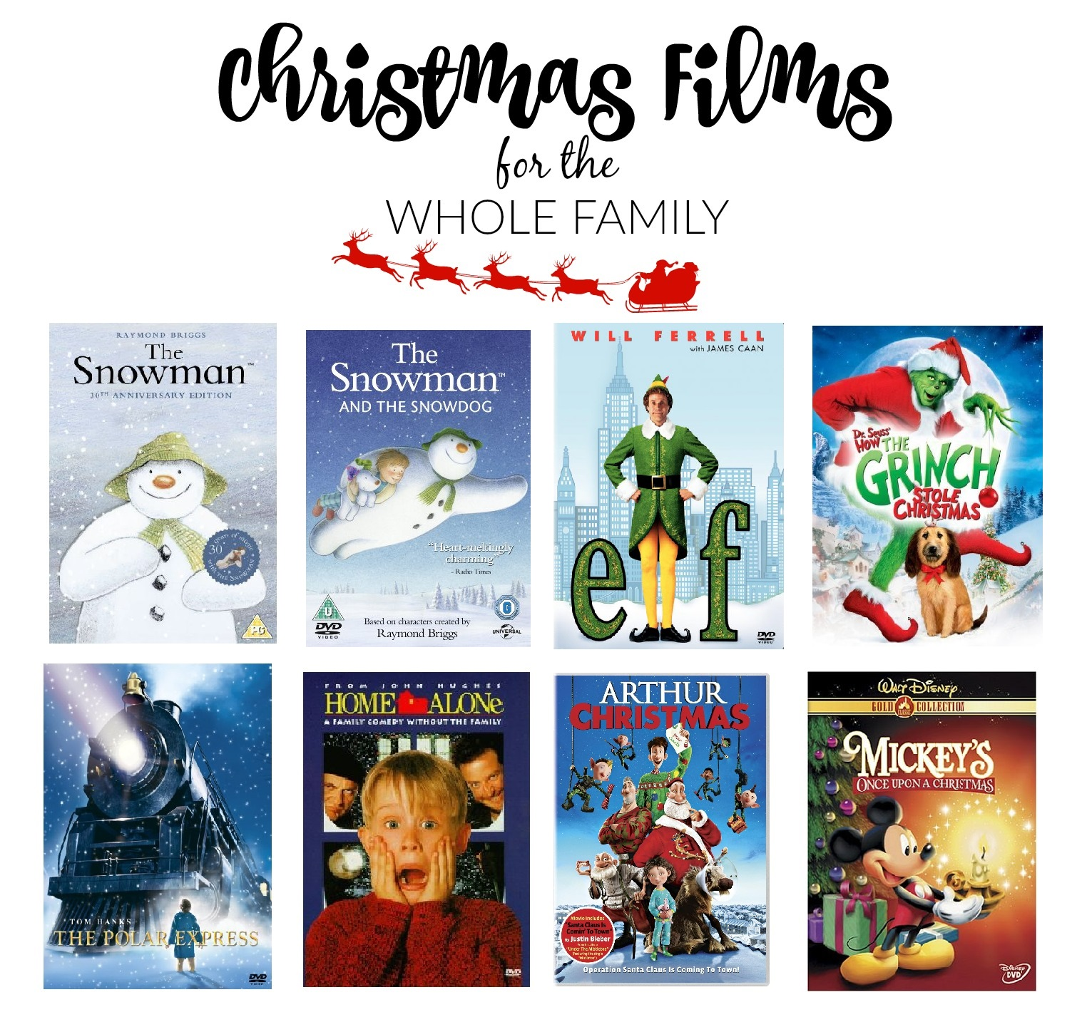 Christmas Films For The Whole Family | Sophie Ella and Me