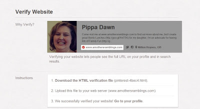 Verified Blogger Blog on Pinterest