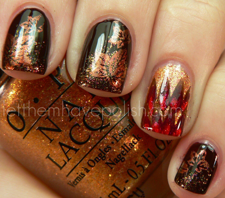 Thanksgiving Nails: Let Them Have Polish!: Happy Thanksgiving With O.P.I Nail