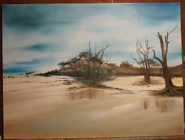 Oil on Canvas/Driftwood Beach, GA