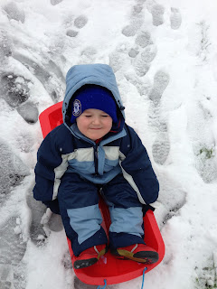 Sledging - Bournemouth Snow 2013