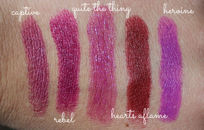 top 5 mac autumn lipstick swatches