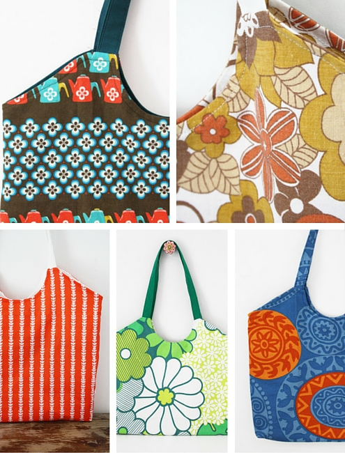 Easy gift sewing project: market bag | Happy in Red