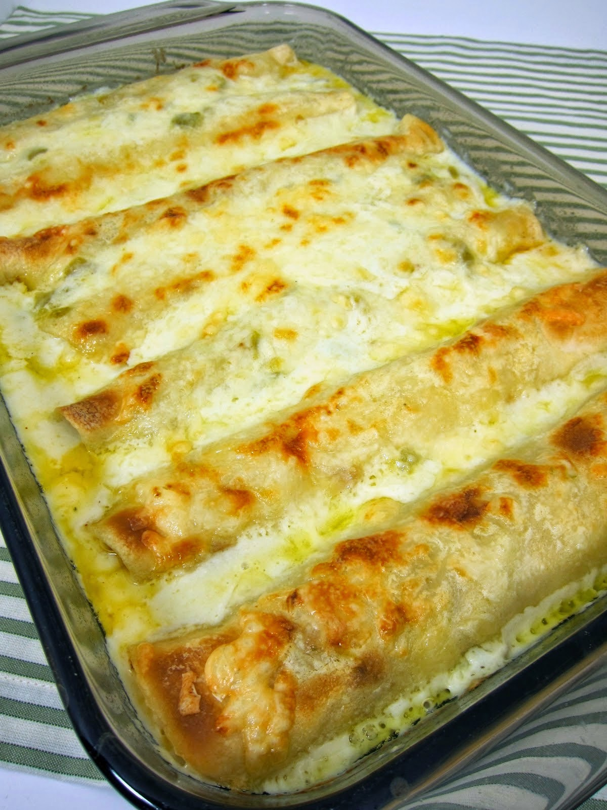 White Chicken Enchiladas Recipe