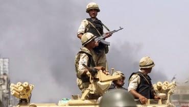 إستشهاد سبعة جنود مصريين بانفجار عبوة شمالي سيناء