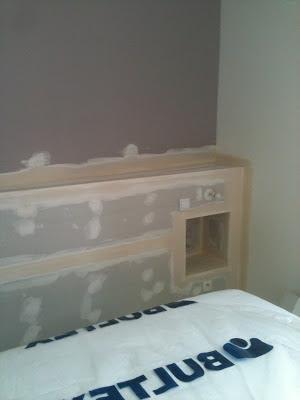lcch pr sentation pr paration t te de lit en placo. Black Bedroom Furniture Sets. Home Design Ideas