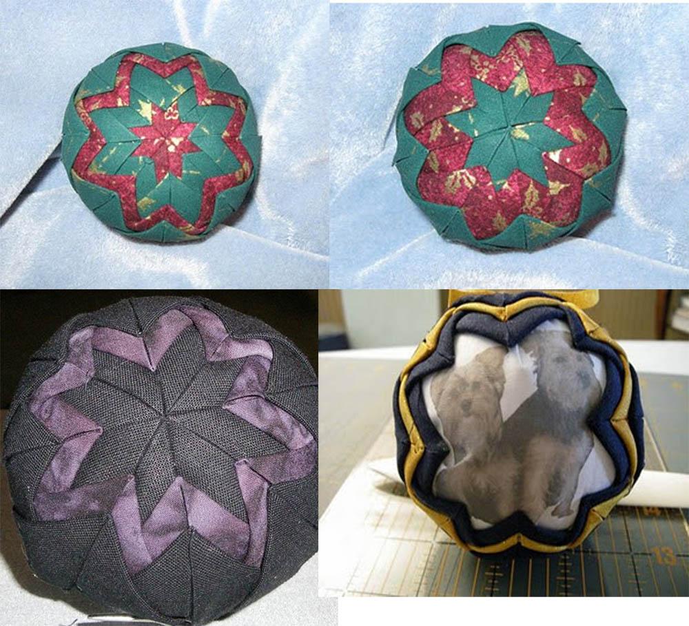 Folded fabric christmas ornaments patterns - Folded Star Ornament Preparing Fabric Blocks