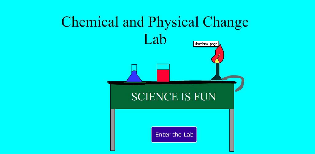 lab report physical and chemical changes
