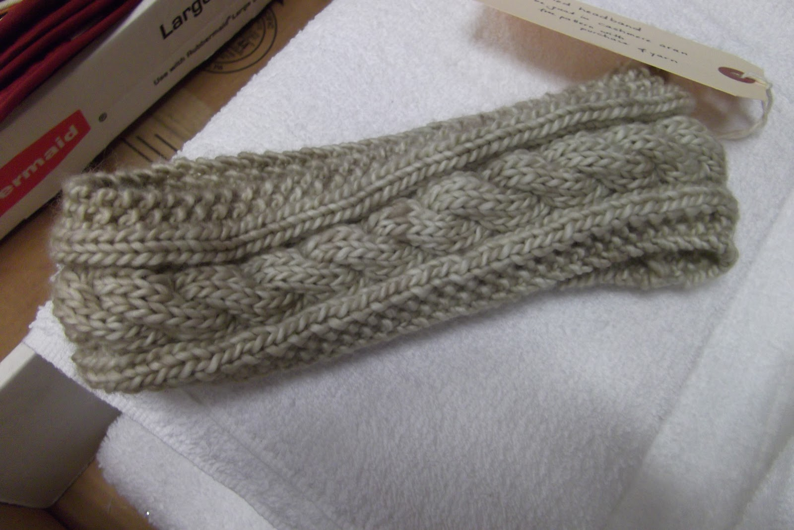 Cable Knit Pattern Free : Discover Your Inner Knitter with Doris: Cabled Headband- Free Pattern
