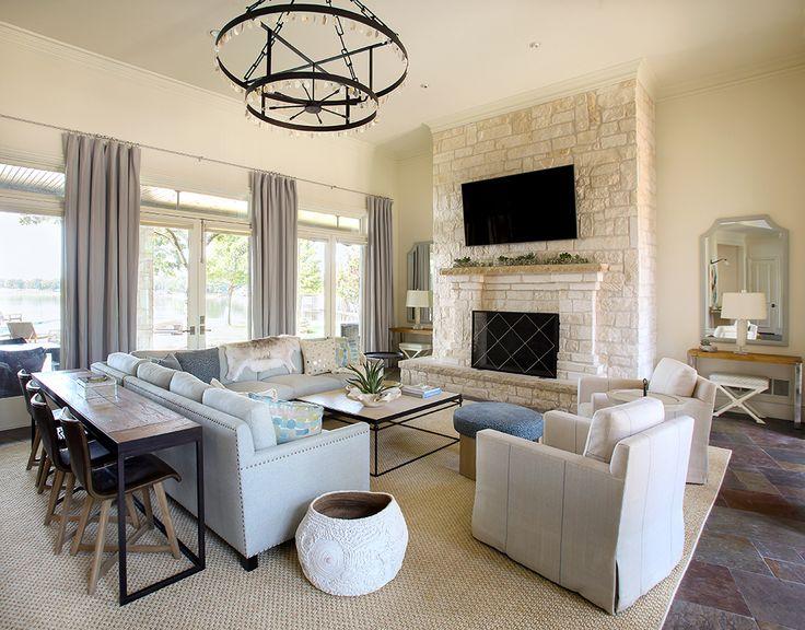 11 fotos con ideas de decoraci n para detr s del sof for Mesa de salon abatible