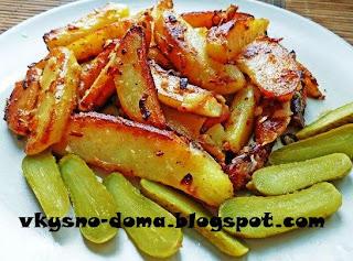 Картофель с чесноком и луком