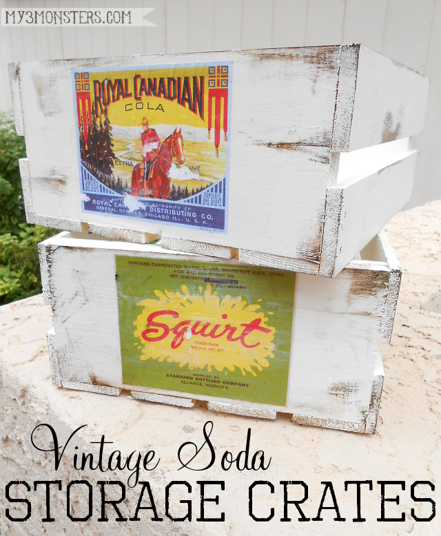 Vintage Soda Storage Crate tutorial by my3monsters.com for Reasons to Skip the Housework
