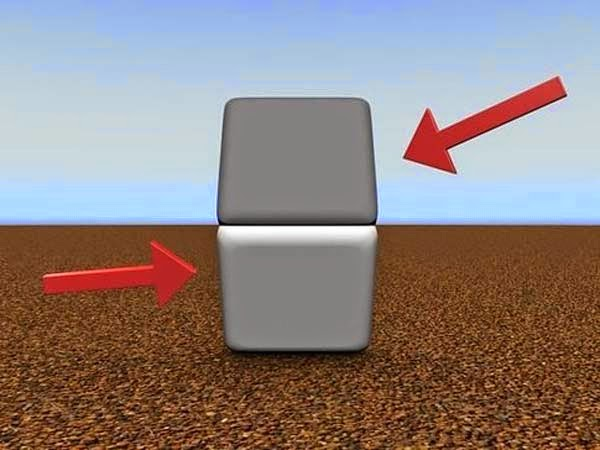 Awesome Illusions That May Make Your Brain Explode - These 2 blocks are the same color... Cover the line with your finger to check.