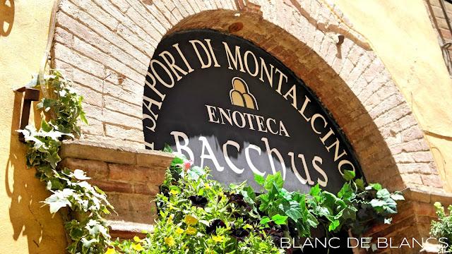 Enoteca Bacchus, Montalcino - www.blancdeblancs.fi