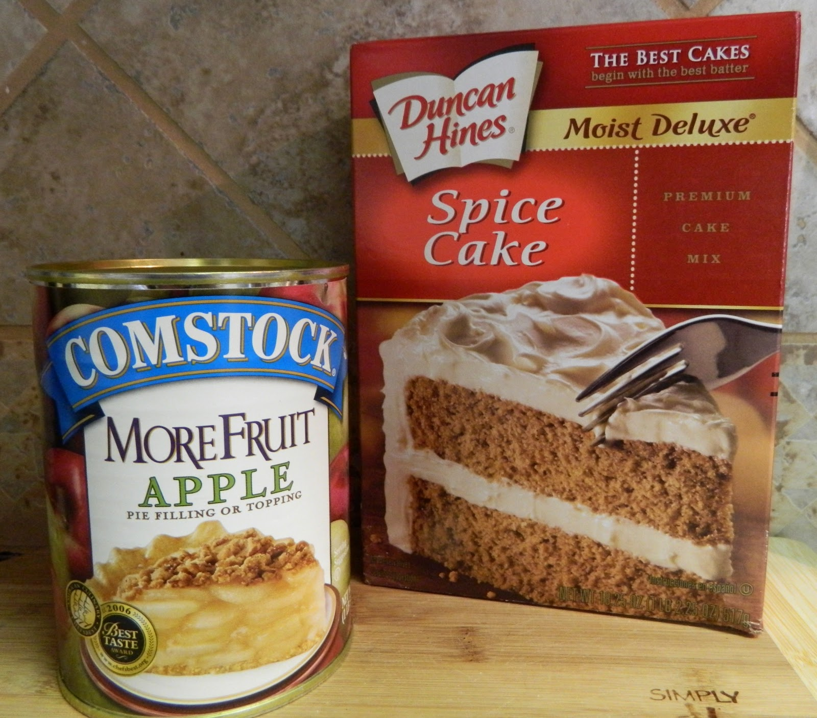 Spice Cake Mix And Apples