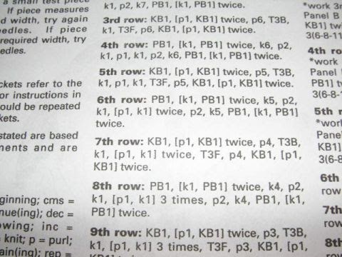 Knitting Stitch Abbreviations Dictionary : Knitting Galore: How to Read a pattern