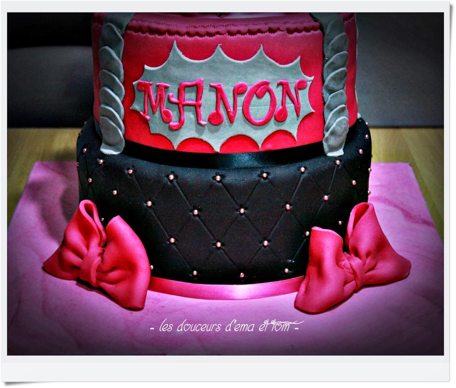 Les douceurs d 39 ema et tom cake design girly pour les 18 - Gateau anniversaire 4 ans ...