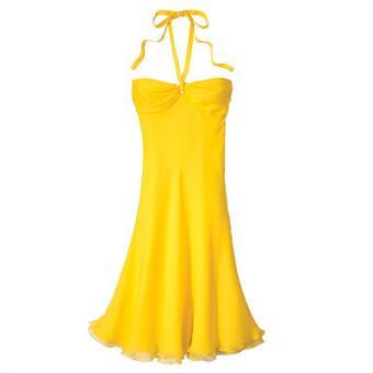 Yellow summer dresses girly stuff black v neck dress party dresses