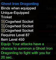 Ghost Iron Dragonling Tinker's Gear Cogwheels