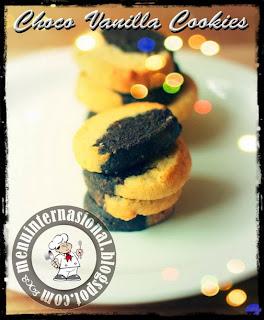 Cara Membuat Kue Kering Choco Vanilla Cookies Spesial