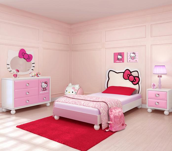 Contoh Desain Kamar Tidur Hello Kitty Menarik Dan Lucu