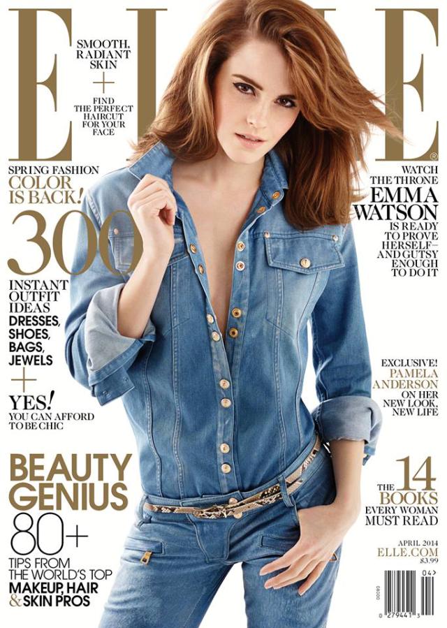 Emma Watson en portada de la revista Elle abril 2014