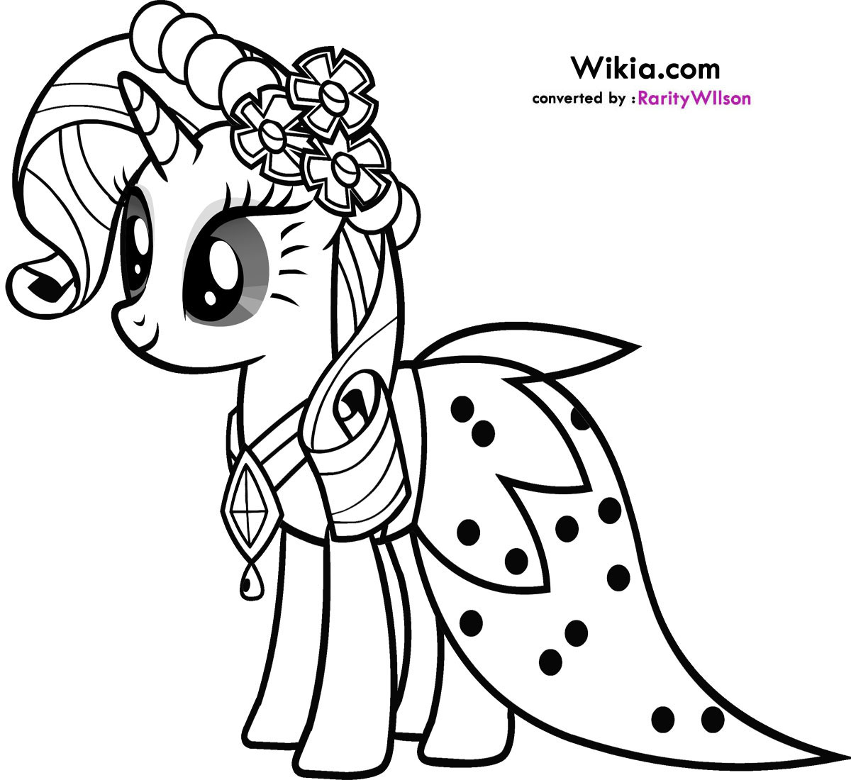 My Little Pony Rarity Coloring Pages Team colors