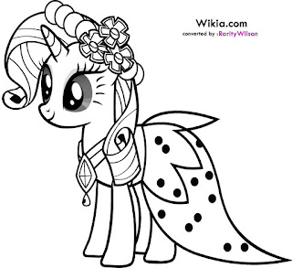 Rarity in Wedding Dresses coloring pages