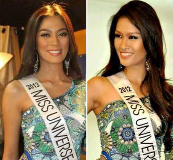 Miss Universe Philippines 2013 Ariella Arida and Miss Universe 2012 first runner up Janine Tugonon