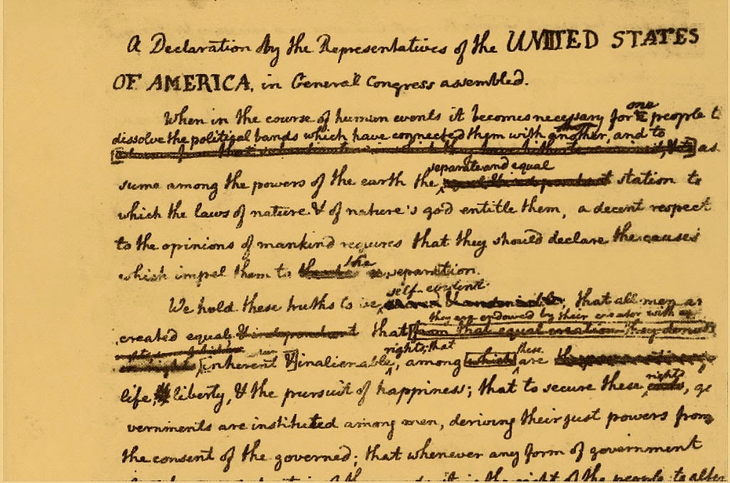 a look at the changes in the declaration of independence Notice of revocation of independence  to have a national anthem that changes its title whenever your  have revoked the declaration of independence.