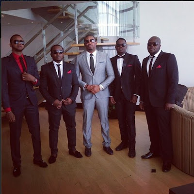 Eldee, Don Jazzy, Dr. SID at 2face's wedding