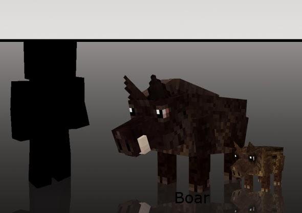 Mo' Creatures jabalí Minecraft mod