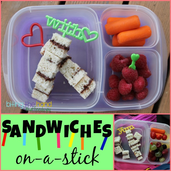 ... The Hand That Feeds You: Simple Peanut Butter Sandwich-on-a-Stick