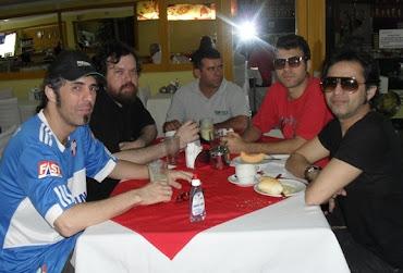 O Mossoroense Reynaldo Bessa e seus músicos durante o café da manhã