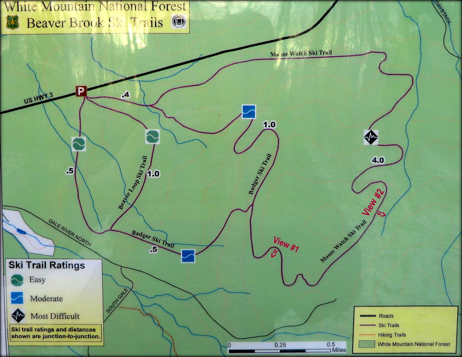 map of beaver brook xc ski trails