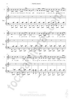 """4 Su primera partitura en www.tocapartituras.com es un villancico con tintes orientales muy divertido, fácil y pegadizo. Su título es """"Nadala Oriental"""" (Navidad Oriental). Esperamos les guste a nuestros seguidores/as de piano. La partitura está orientada para piano acompañamiento y voz. Un excelente villancico para cantar con tus alumnos/as de música y coro infantil. Gracias José Calatayud por compartir partituras en tocapartituras.com. Contigo ya llegamos a 58 colaboradores/as oficiales en el blog, haciendo disponer de canciones tan hermosas como el villancico de hoy en forma partitura para aquel que quiera aprender y pasar un buen rato de piano.  Partitura de Voz y Piano Acompañamiento de Nadala Oriental Villancico Oriental Piano Accompaniment Sheet Music and Voice Music Score by José Calatayud"""