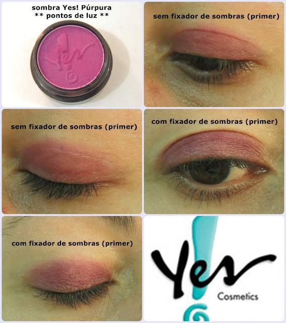 sombra purpura Yes! Cosmetics